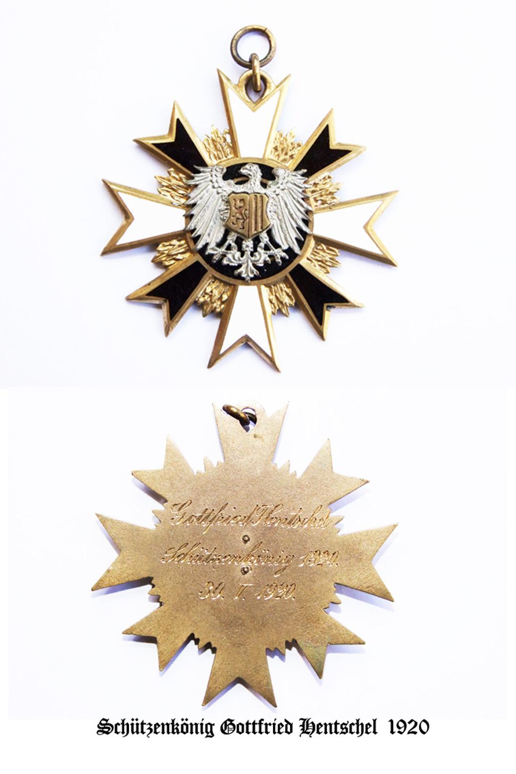 Schützenkönig 1920