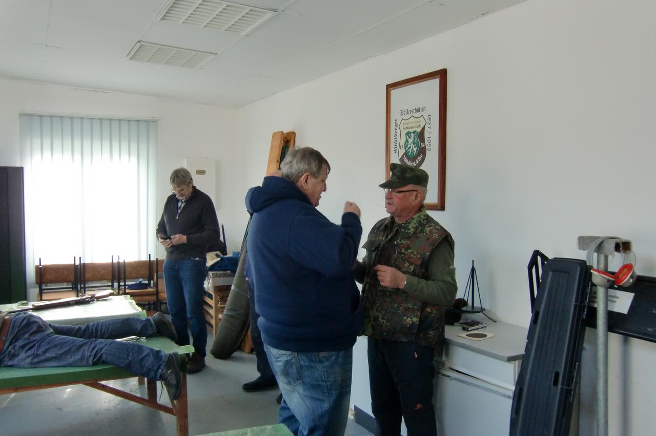 Vereinsmeisterschaften KK-Sportgewehr Klaus Nicolai, Hans Jürgen Kögler Maximilian Missy
