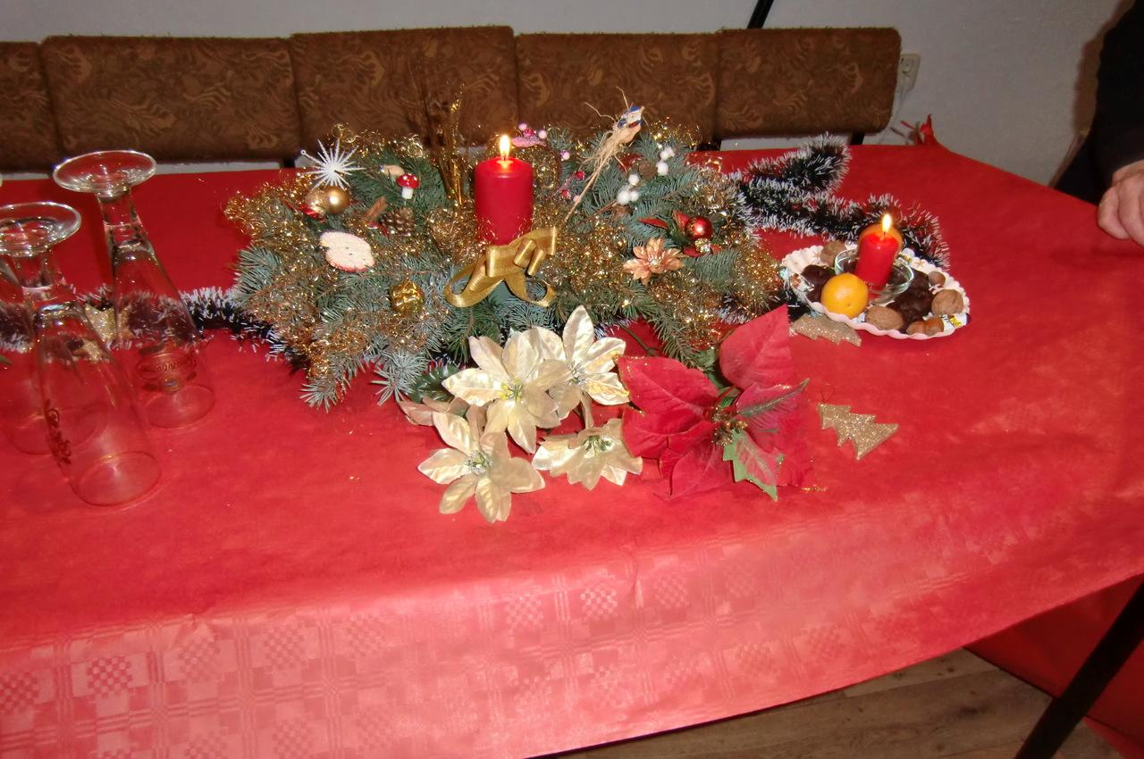 2019 Weihnachtsfeier Tischschmuck